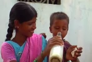 A mother feeding illicitly brewed local liquor to her infant   |     NDTV File Photo