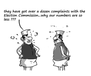 Competing for complaints and controversies   Cartoon: MySay.in