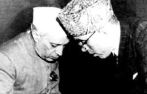 Jawaharlal Nehru and Sheikh Abdullah