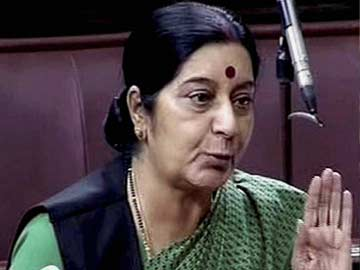 External Affairs Minister Sushma Swaraj speaking in the Rajya Sabha | PTI