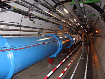 The Large Hadron Collider tunnel| Photo by Julian Herzog licensed under the Creative Commons Attribution-Share Alike 3.0 Unported)