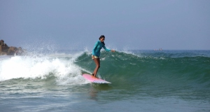 Ishita, India's first professional surfer | Photo Credit- Crystal Thornburg-Homcy
