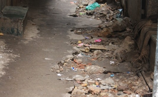 a muddy street near Turkman gate