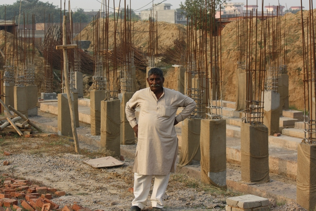 Lakhi Singh, a guard at the site