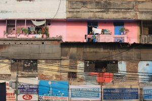 brothels in Delhi occupy top floors over a bustling electric market