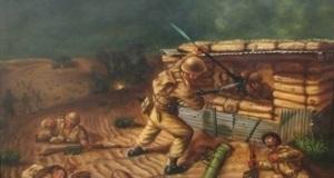 Malharis blasting enemy MMG bunker