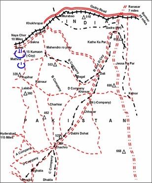 15 Kumaon Operations Gadra to Chachro -Dec 1971