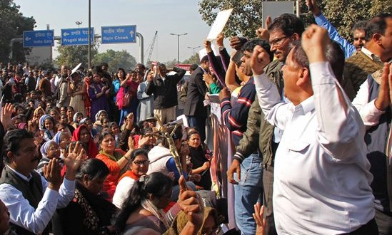 Christians protest in New Delhi| Photo: Morning Star News