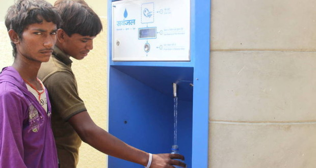 One of 24 ATMs being piloted across Delhi. The machine is located in Dwarka Sector 3 Resettlement Colony — an unplanned neighbourhood that lacks public services such as piped drinking water | Anita Makri