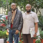 Kalu (left) with his brother Martin in Max