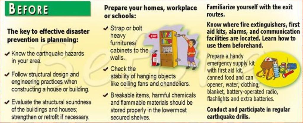 Tips Before Earthquake