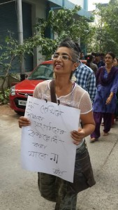 Rimi B. Chatterjee, an English professor at Bengal's Jadavpur University, believes that #pads against sexism movement has shaken people's sensibilities and given women the courage to stand up against social suppression. | Photo: Soumya Das Gupta