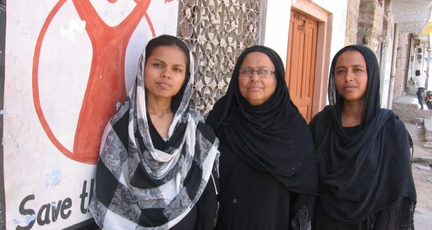 (From left) Saira, Shahjahan and Sameena are three of the many conscientious community volunteers who have joined hands with religious leaders under a special initiative that aims to improve the overall health of the over 1.6 lakh Muslims living in Tonk, in Rajasthan | Photo Credit: Abha Sharma/WFS