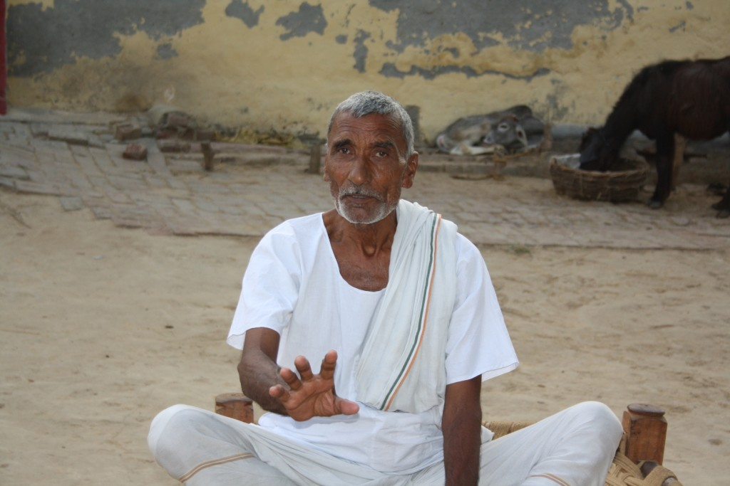 Zamadar singh, a retired teacher
