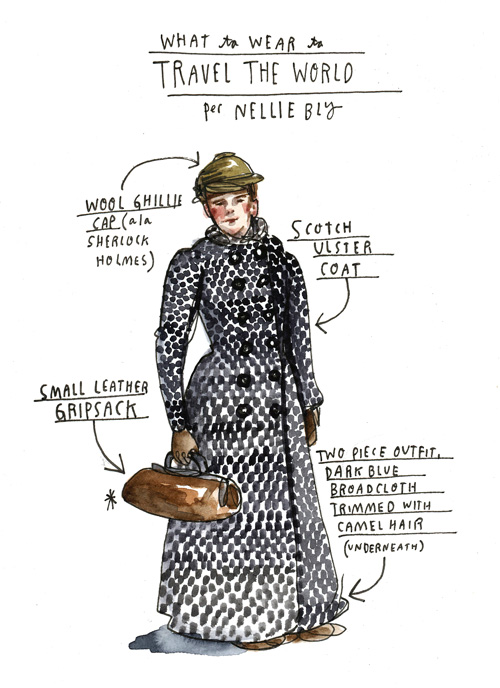 Illustration by Wendy MacNaughton based on 'Eighty Days: Nellie Bly and Elizabeth Bisland's History-Making Race Around the World.' Click image for details.