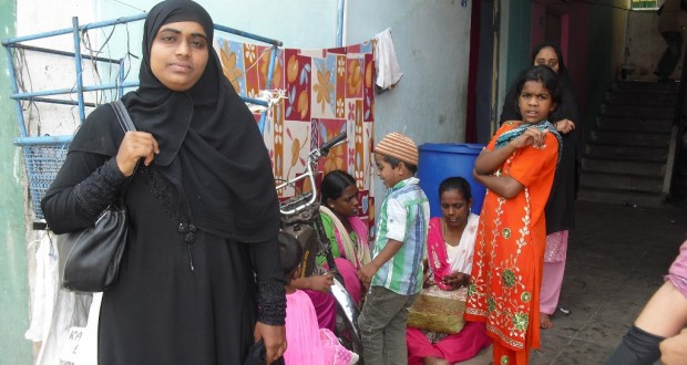 Zaiba Taj, 21, mentors several hundred children in and around her Haleem Nagar slum in Mysore and is a true agent of change, who has brought about a positive transformation in her own life as well as motivate others like her to follow in her footsteps. (Credit: Roshin Varghese\WFS)