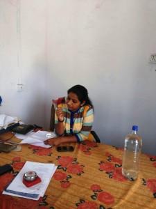 Annu Sharma, a civil services aspirant, is presently the Pradhan of Bhinay Panchayat Samiti in Ajmer district. (Credit: Rakesh Kumar\WFS)