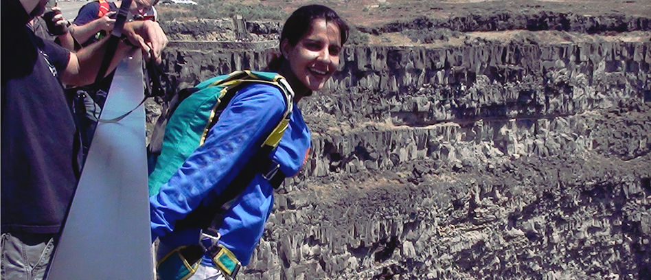 Archana Sardana, a 40-year-old adventure enthusiast, is India's first woman civilian Building Aerial Span Earth (BASE) jumper
