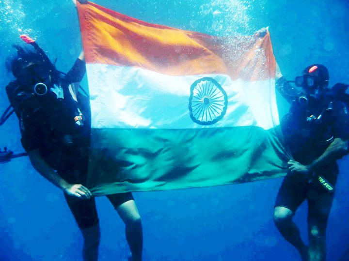 Archana Sardana unfurled the Indian flag at a depth of 30 metres in the ocean, off Andaman's Neil Island, and set a new record in the process.