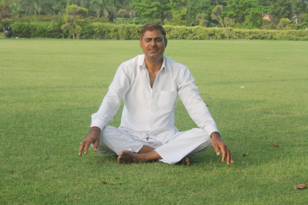 Vikalp Singh doing yoga  Photo: Narendra Kaushik