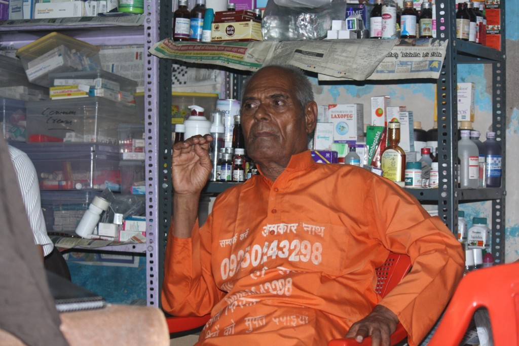onkar nath in his medicine store2