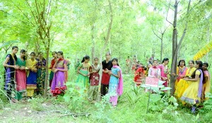 The community ensures these trees survive, attaining fruition as the girls grow up.