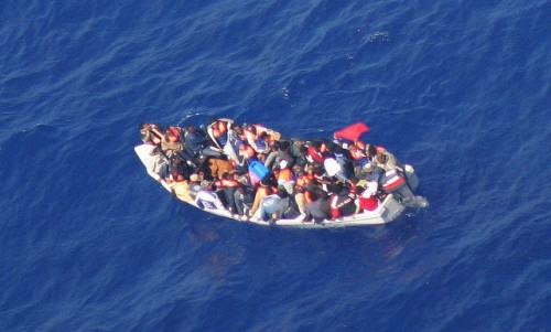 A boat overcrowded with migrants drifts in the Mediterranean sea | For representational purpose only - assena.com