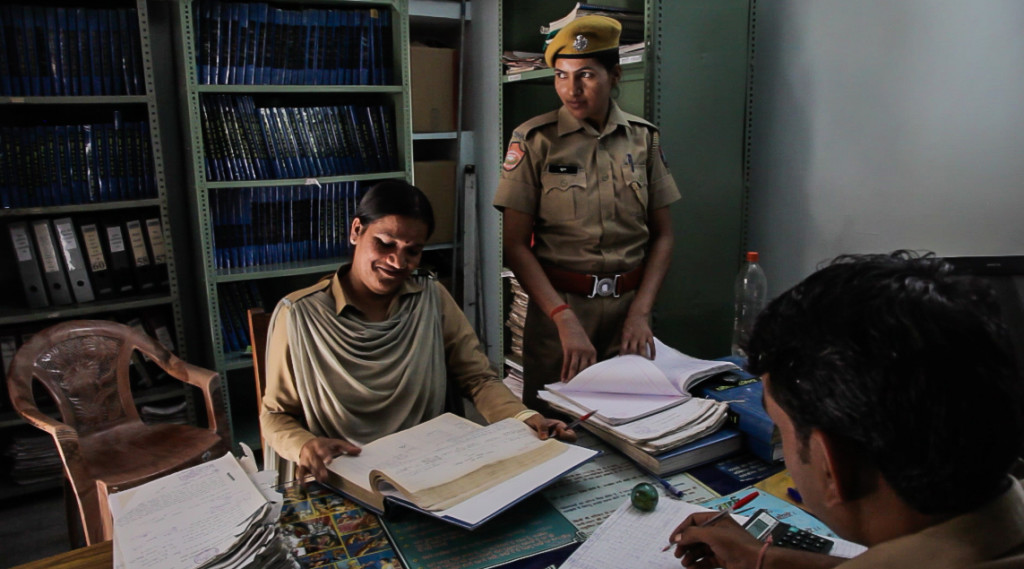 "Though, over the years, more women have been recruited in the police force, their role has been restricted to ""softer duties"" like escorting female prisoners and juveniles or doing administrative work. (Courtesy: Commonwealth Human Rights Initiative)"