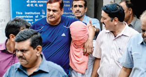 The juvenile accused in the Nirbhaya case outside the Juvenile Justice Board, Delhi