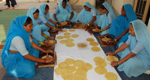 Women registered at the Sulabh training centre, Nai Disha,are taught various vocational skills like food processing, tailoring and beauty care apart from imparting them functional literacy.(Credit: Elsa MathewsWFS)