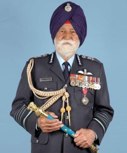 Padma Vibhushan Marshal of the Indian Air Force Arjan Singh, DFC